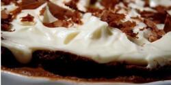 Csupa csoki pite krémsajt kalappal