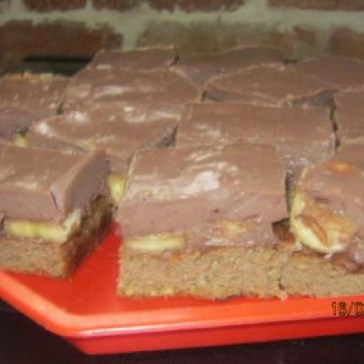 Ezen a képen: Csokis-banános diétás süti