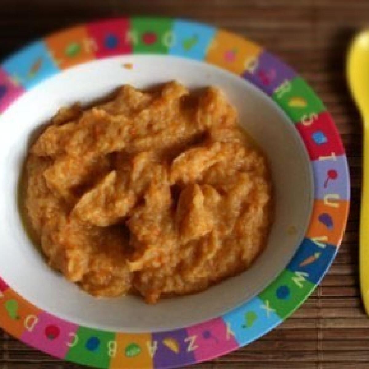 Ezen a képen: Zöldséges-csirkés püré babáknak
