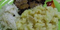 Fokhagymás sült kacsamáj