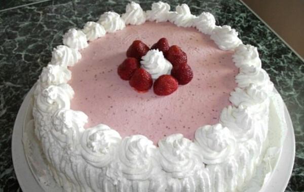 Eperkrém torta
