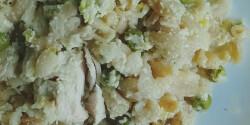 Tejszínes-borsós csirkemell teljes kiőrlésű tésztával lassúfőzőben