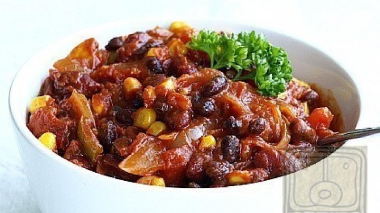 Chili sin Carne - a vegán chilis bab
