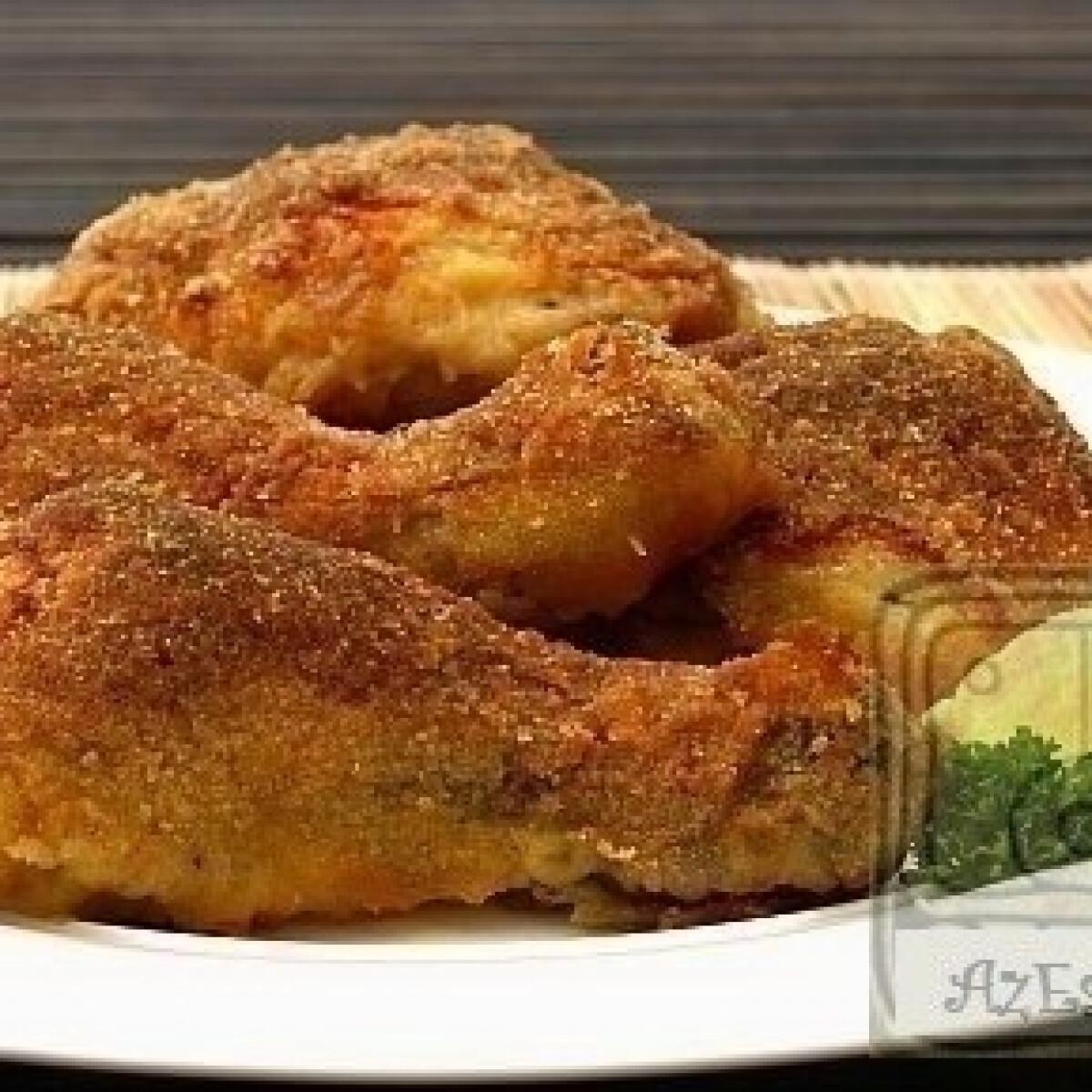Sütőben sült rántott csirke