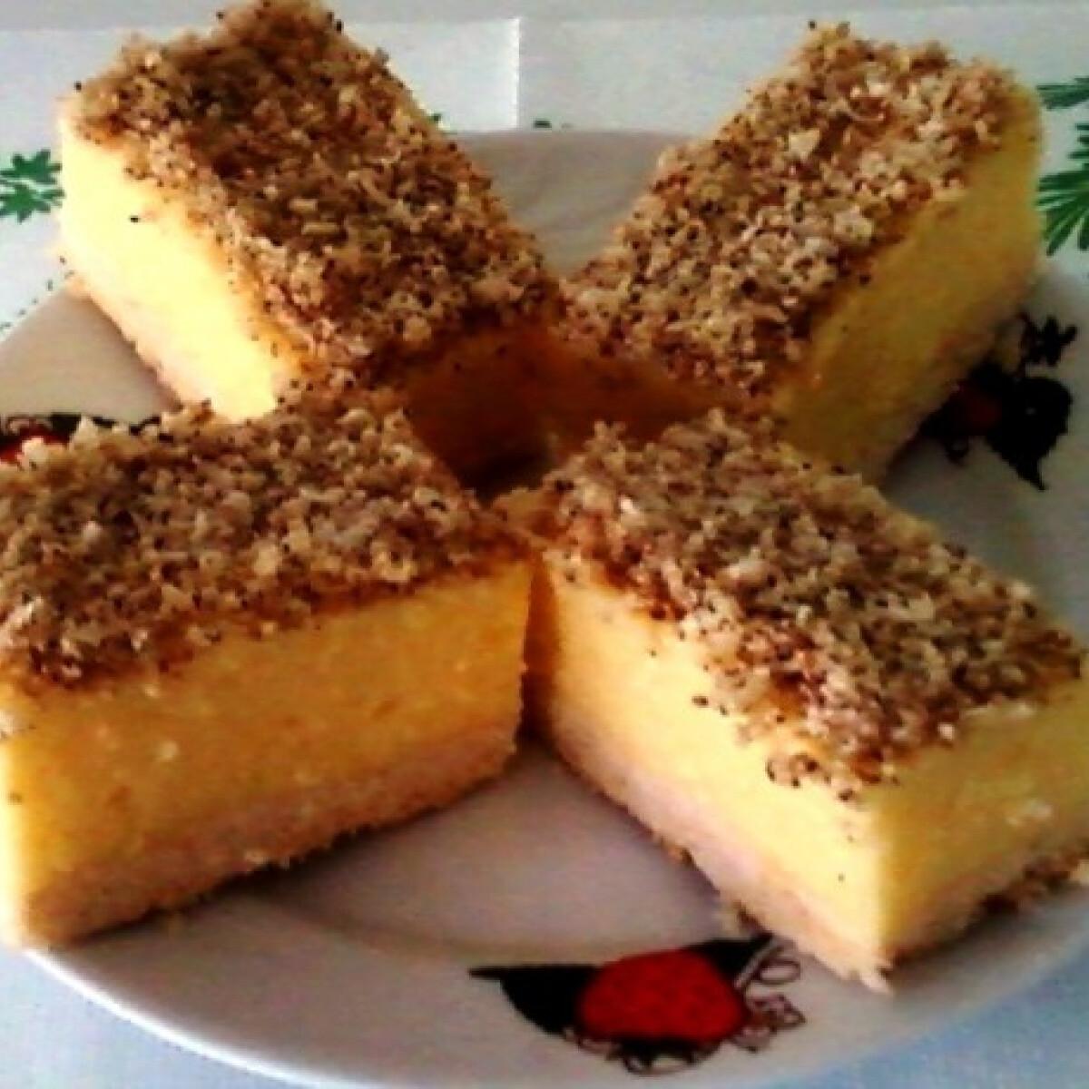 Ezen a képen: Citromkrém-szelet Erzsi konyhájából