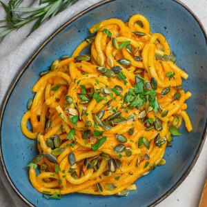 Krémes sütőtökös spagetti