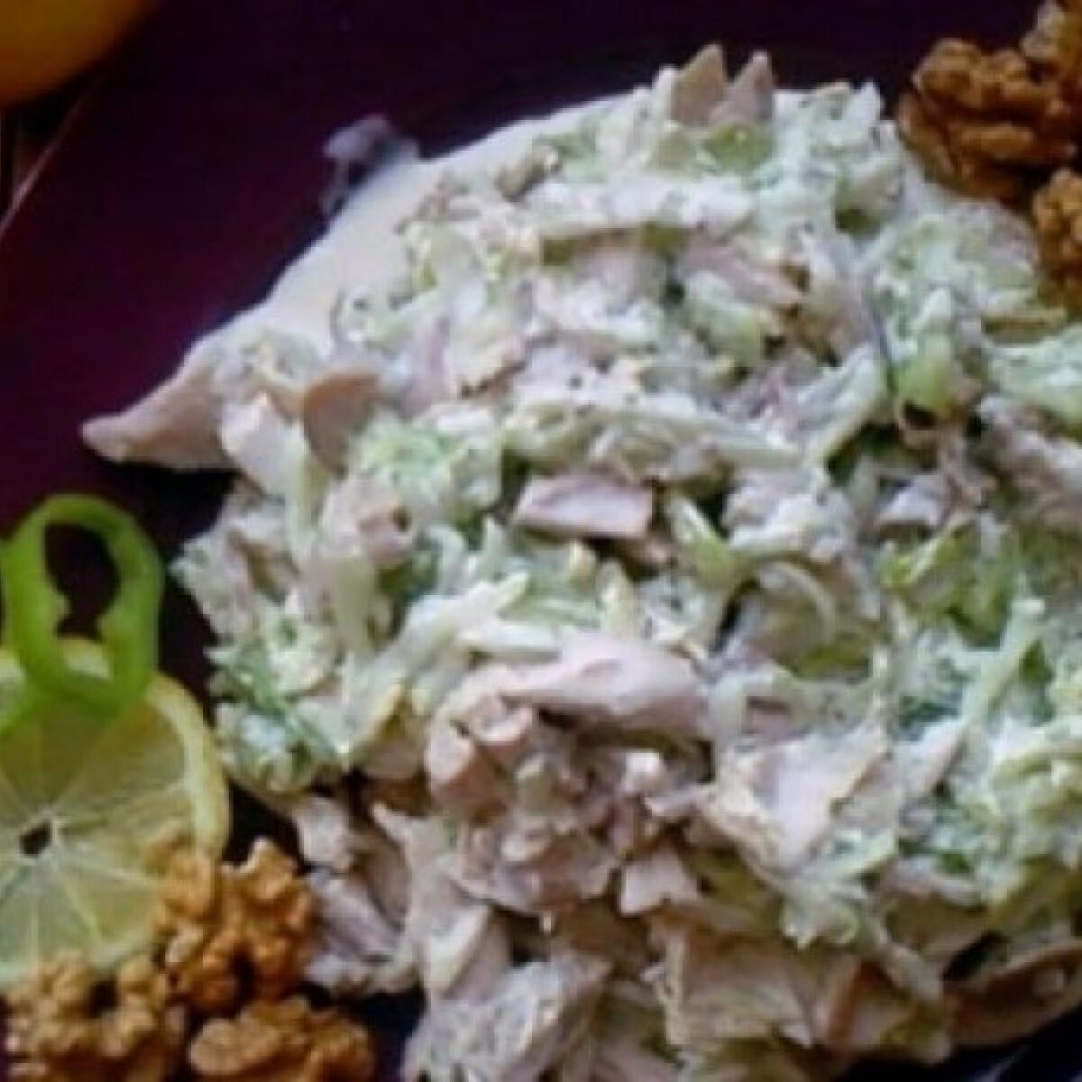 Ezen a képen: Tavaszi majonézes csirkesaláta