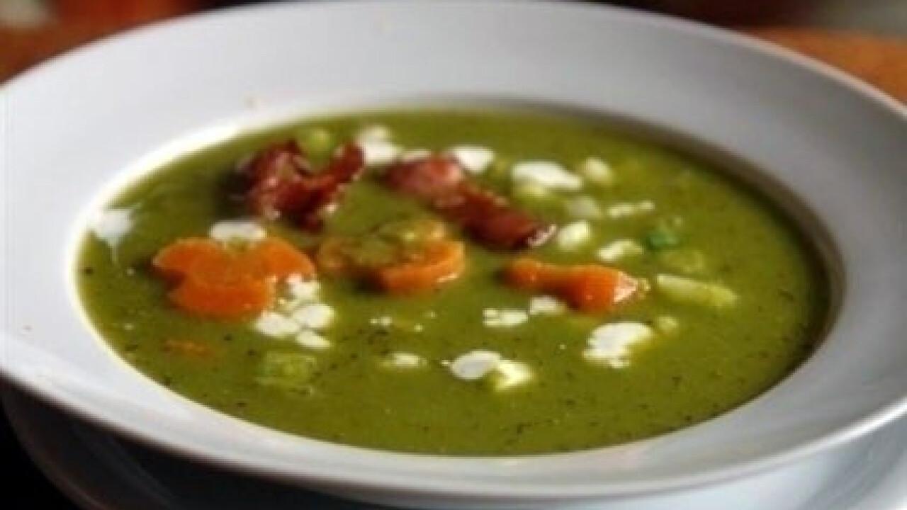 Borsópüré leves sült szalonnával