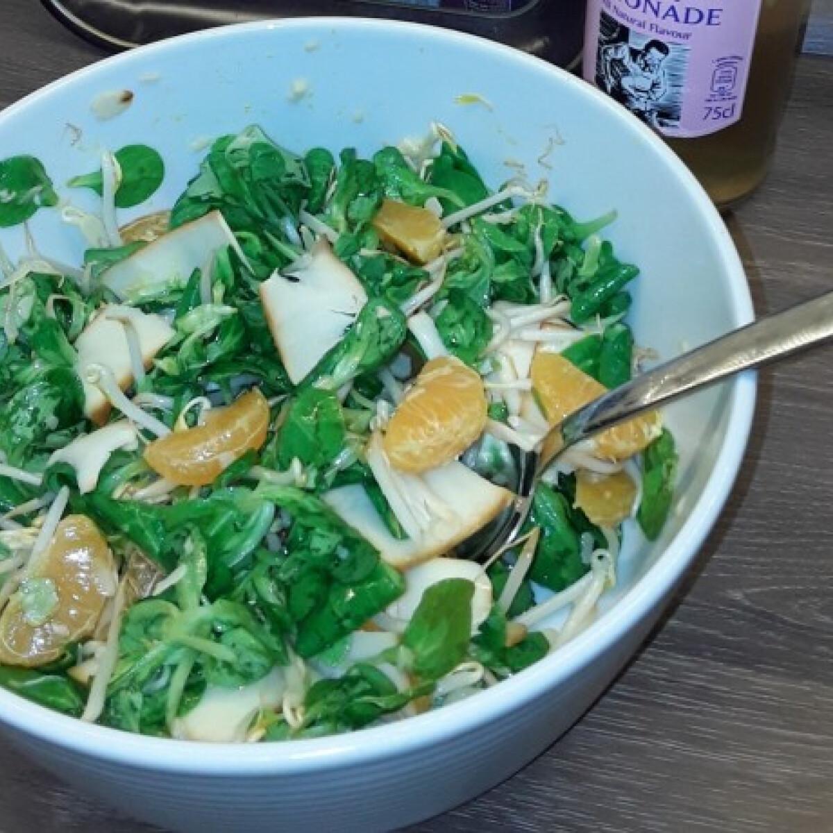 Ezen a képen: Rukkolás saláta mandarinnal