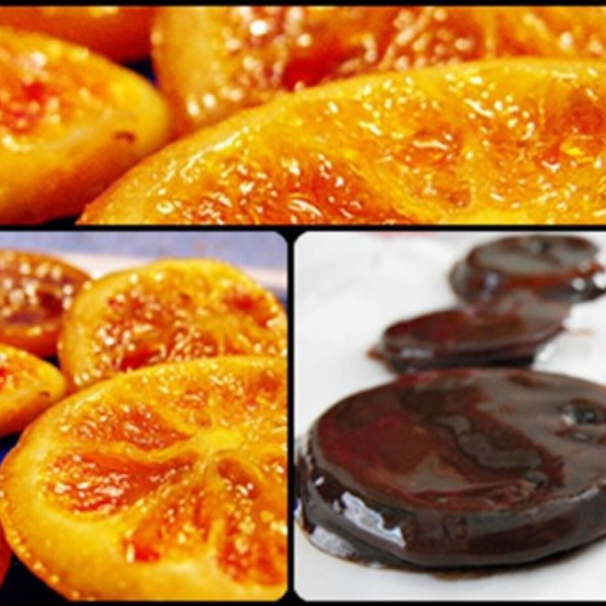 Ezen a képen: Csokis kandírozott narancs