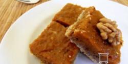 Sütőtökös - diós pite