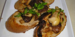 Bruschetta shiitake gombával