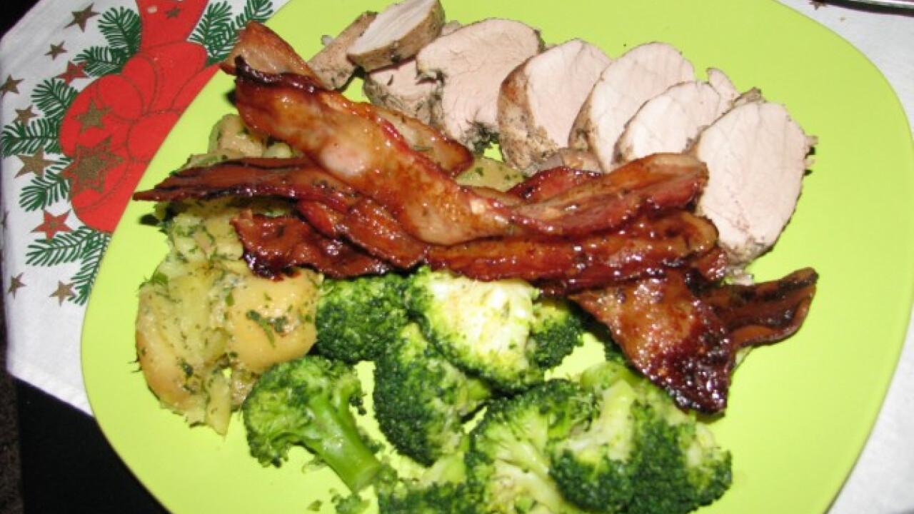 Fűszeres szűzérme brokkolival és krumplival