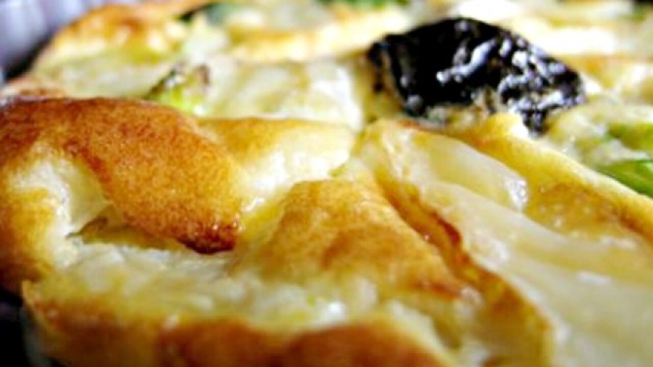 Camembertes kelbimbó felfújt aszalt szilvával