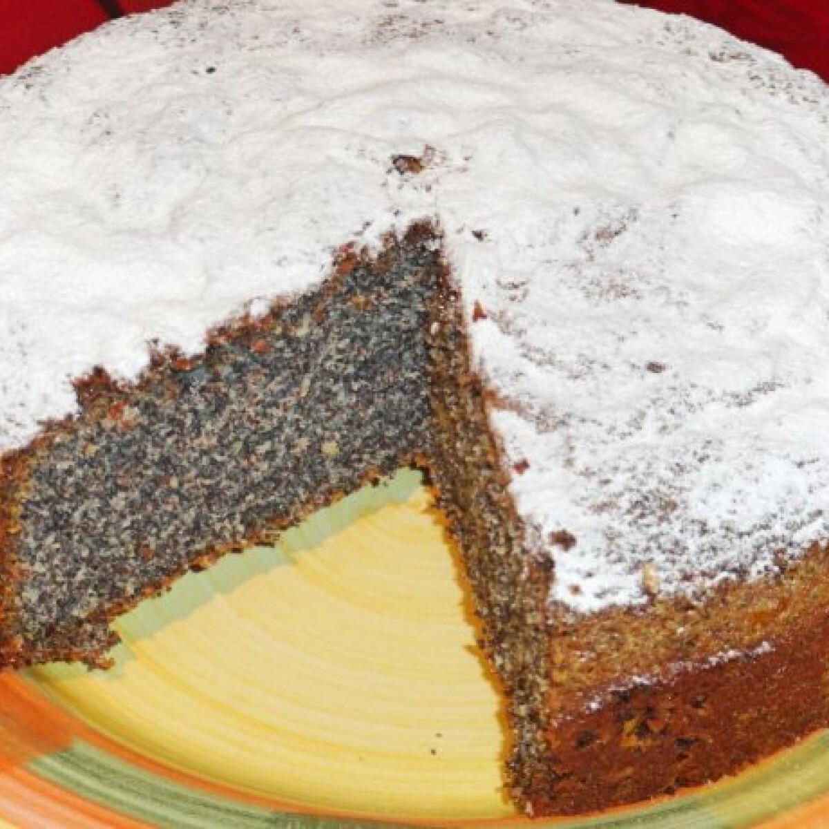 Ezen a képen: Mákos sütemény Glaser konyhájából