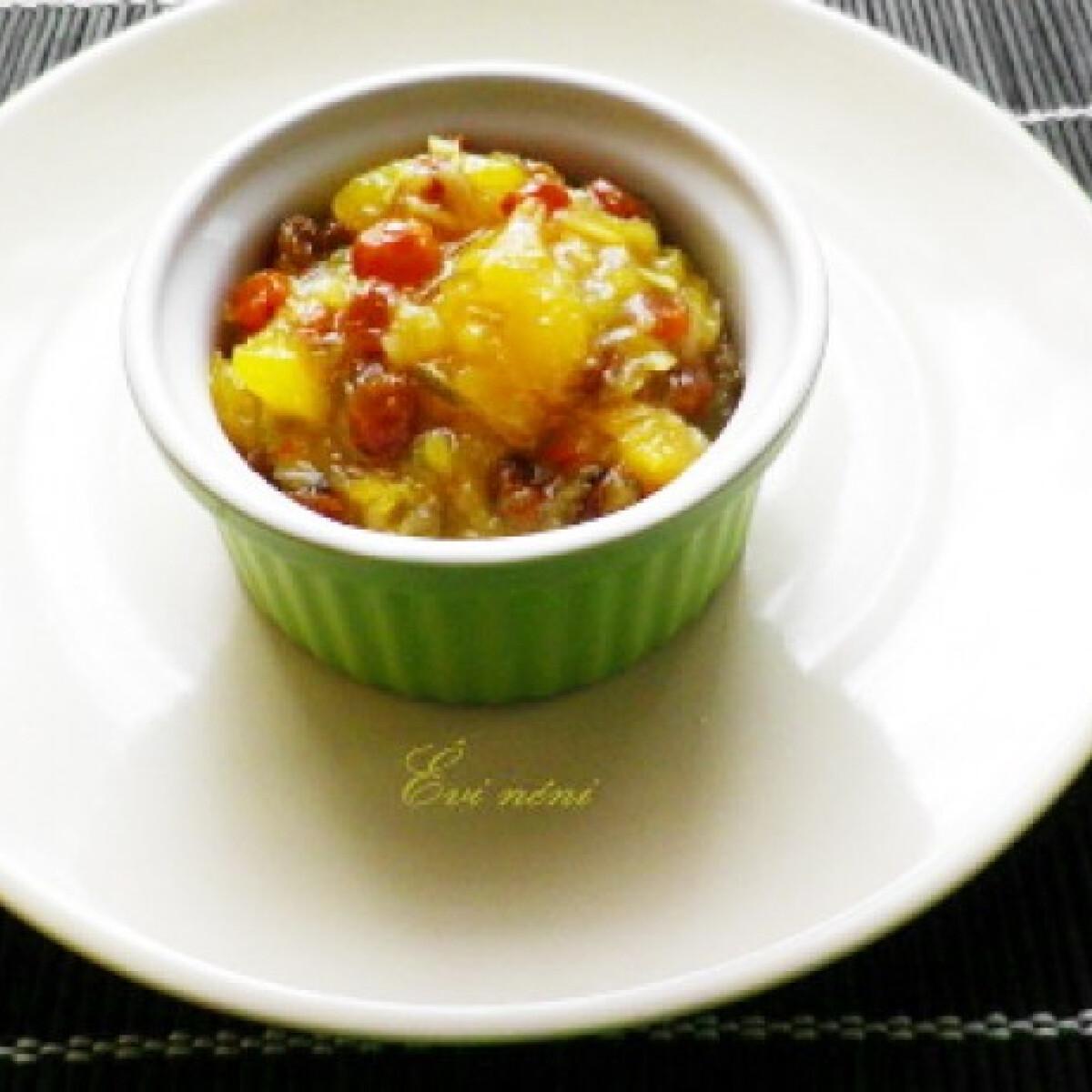 Zöldcitrom-mangó chutney