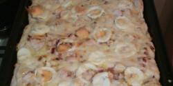 Pizza besameles csirkével