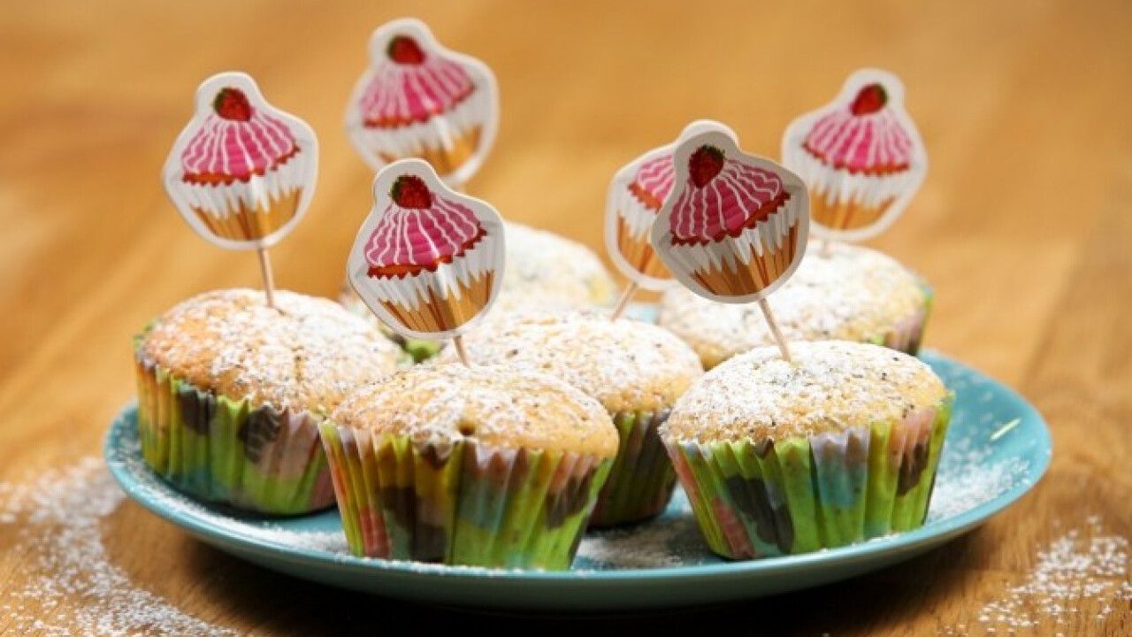 Citromos muffin szilvalekvárral töltve