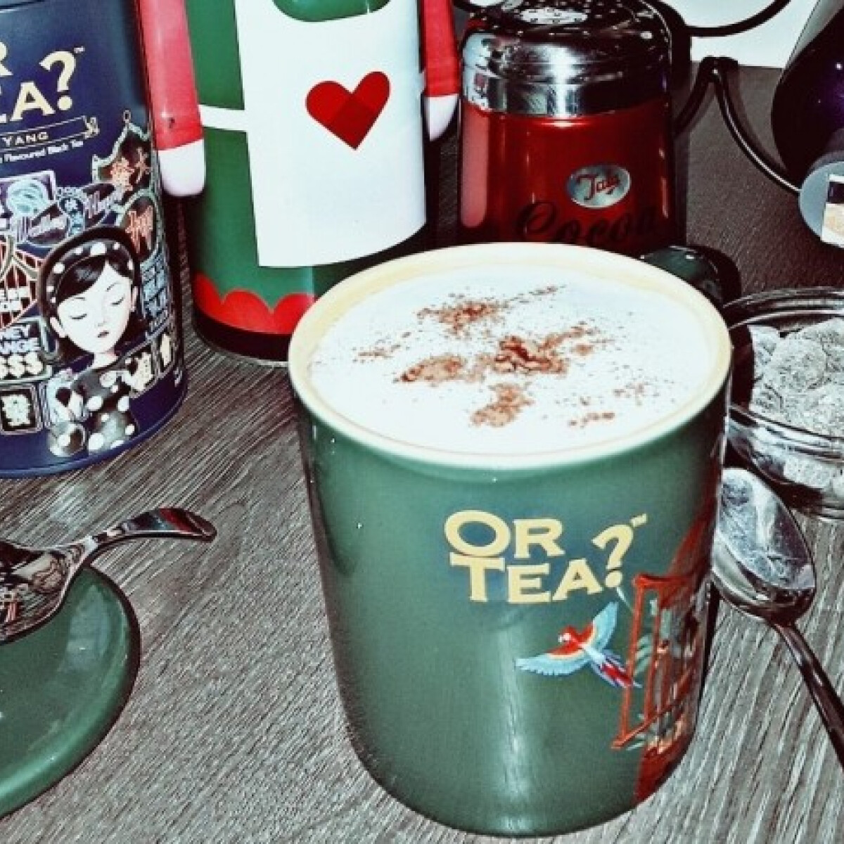Téli tea latte