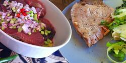 Hagymás-citromos vöröstonhal-szelet