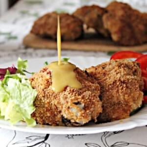 Ropogós csirkecomb sósperec bundában