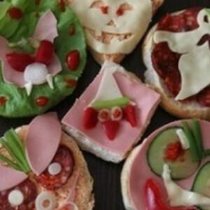 Halloween-i party szendvics