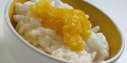 Ragacsos rizs mangóval -Kókusztejes rizs 2.