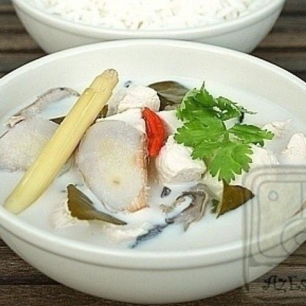 Ezen a képen: Tom  Kha Gai - a thai kókusztejes csirkeleves