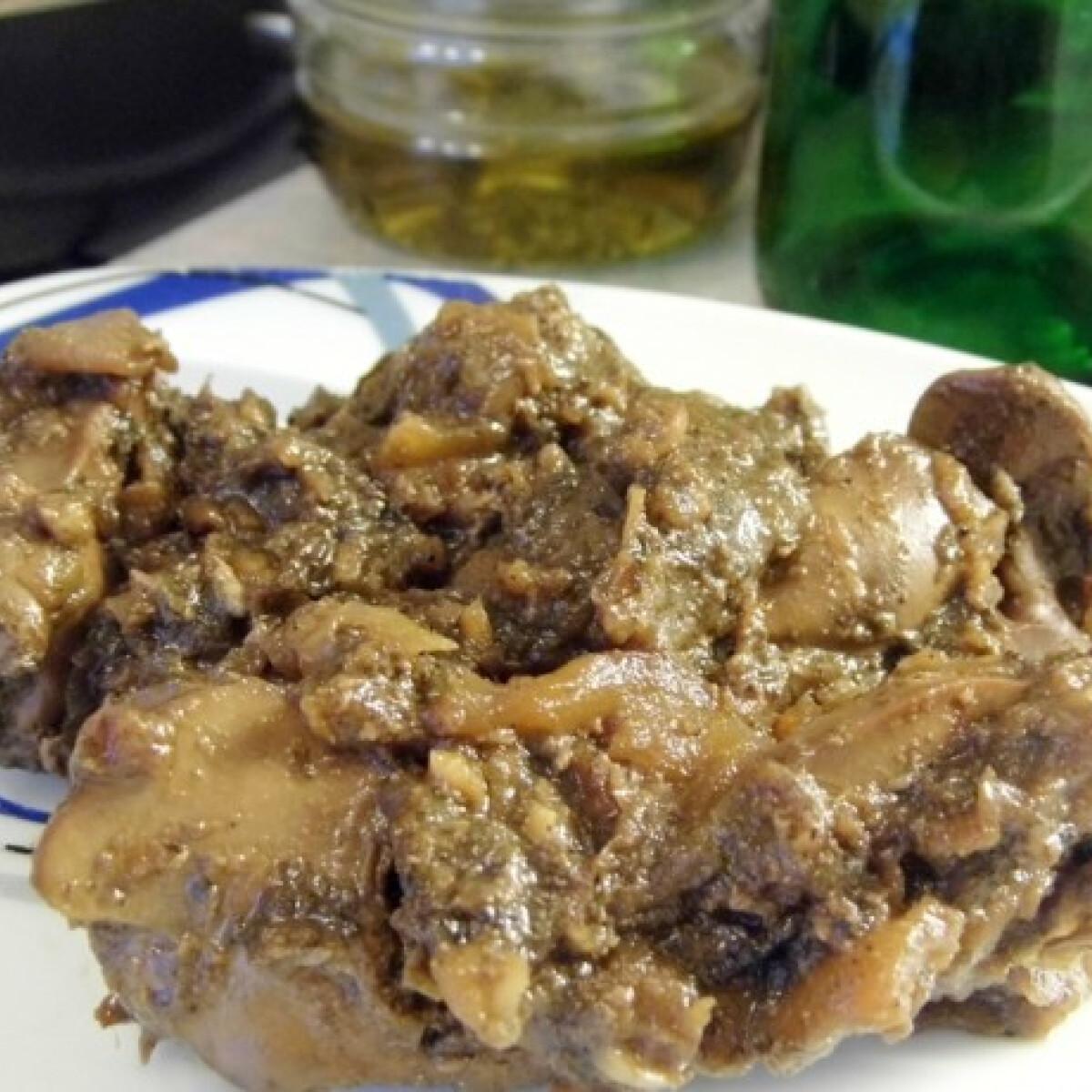 Ezen a képen: Almás csirkemáj Nusika konyhájából