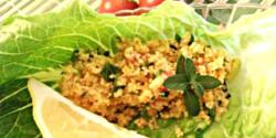 Török kısır salátaágyon