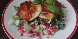 Grillezett mozzarella salátaágyon