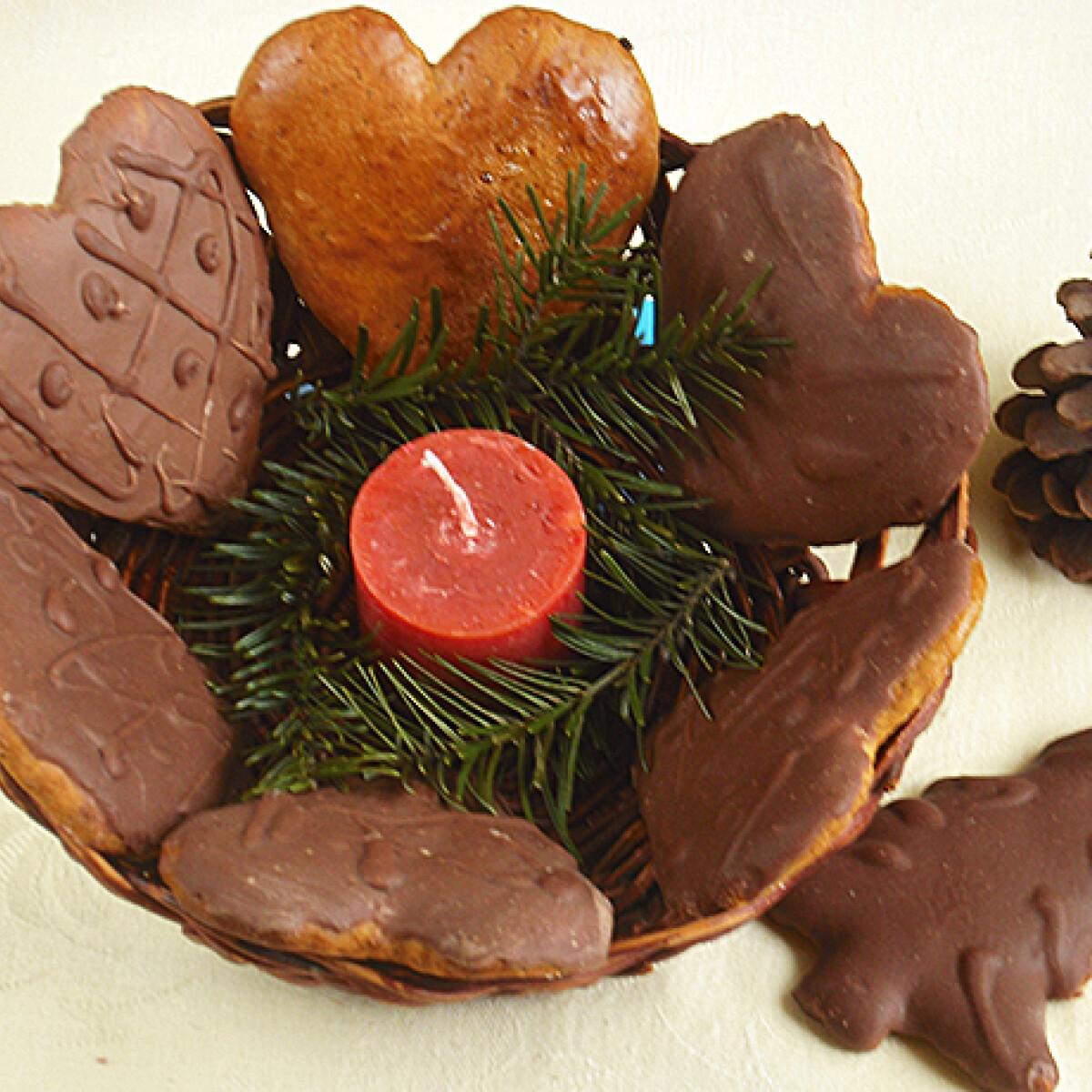 Ezen a képen: Puha csokis mézeskalács