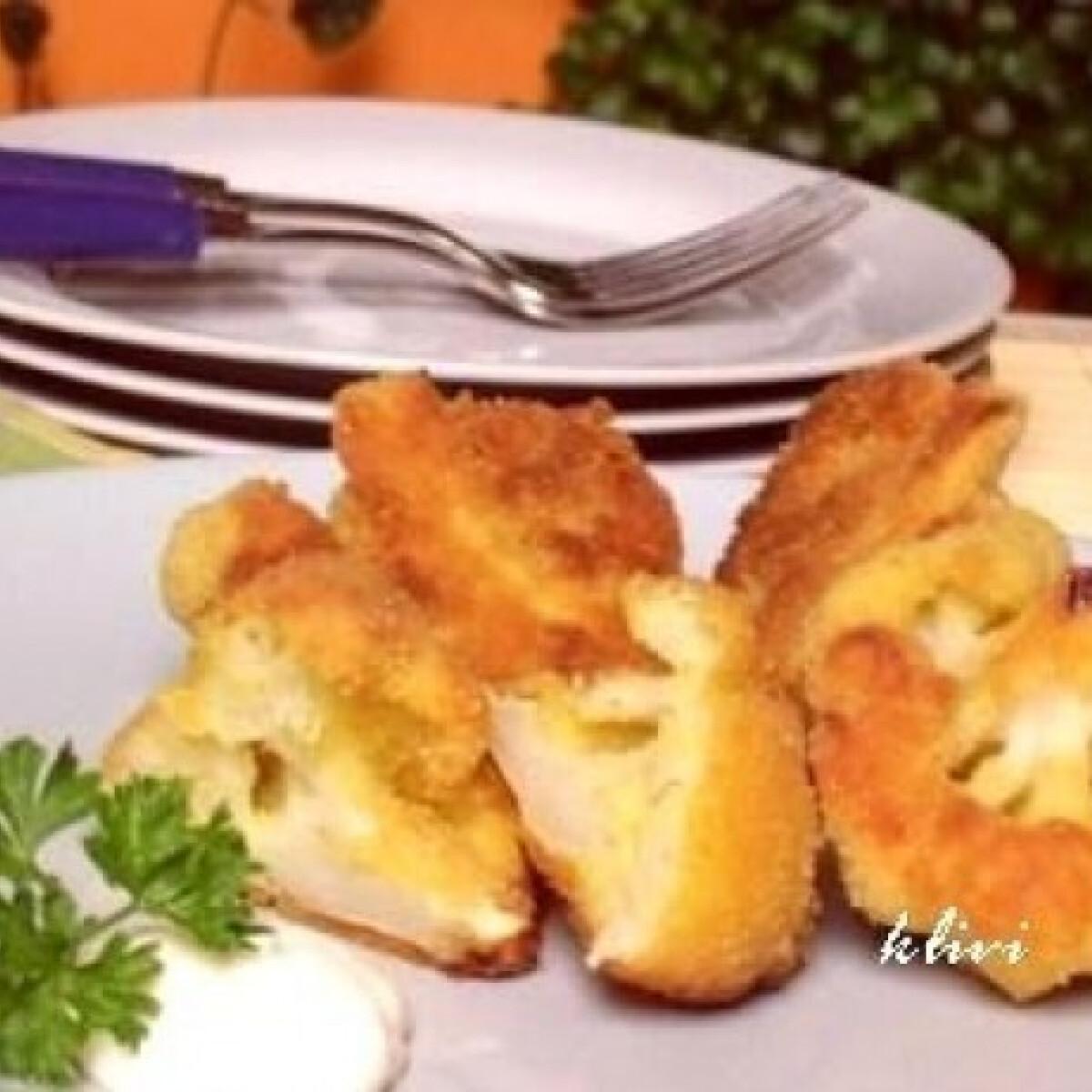 Ezen a képen: Sütőben sült rántott karfiol