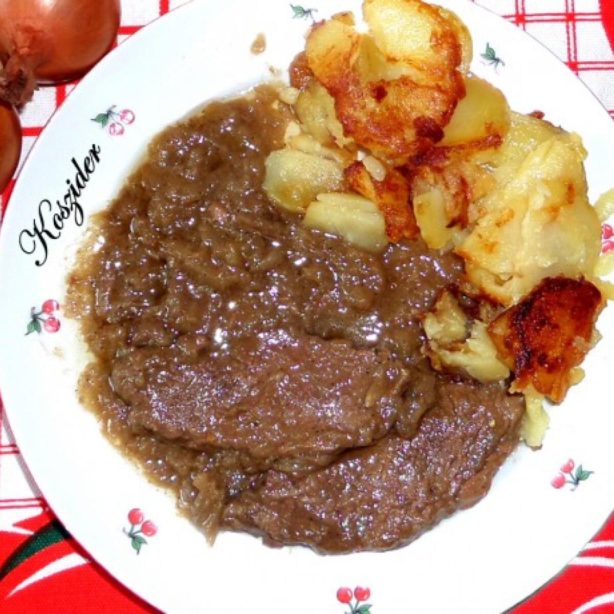Hagymás marhaszelet Koszider konyhájából