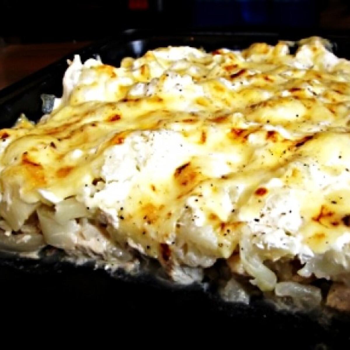 Ezen a képen: Sült csirkés rakott karfiol