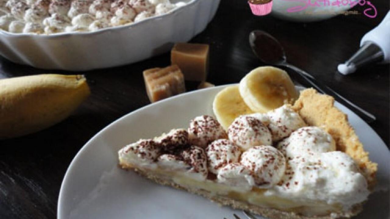 Karamellás-banános pite