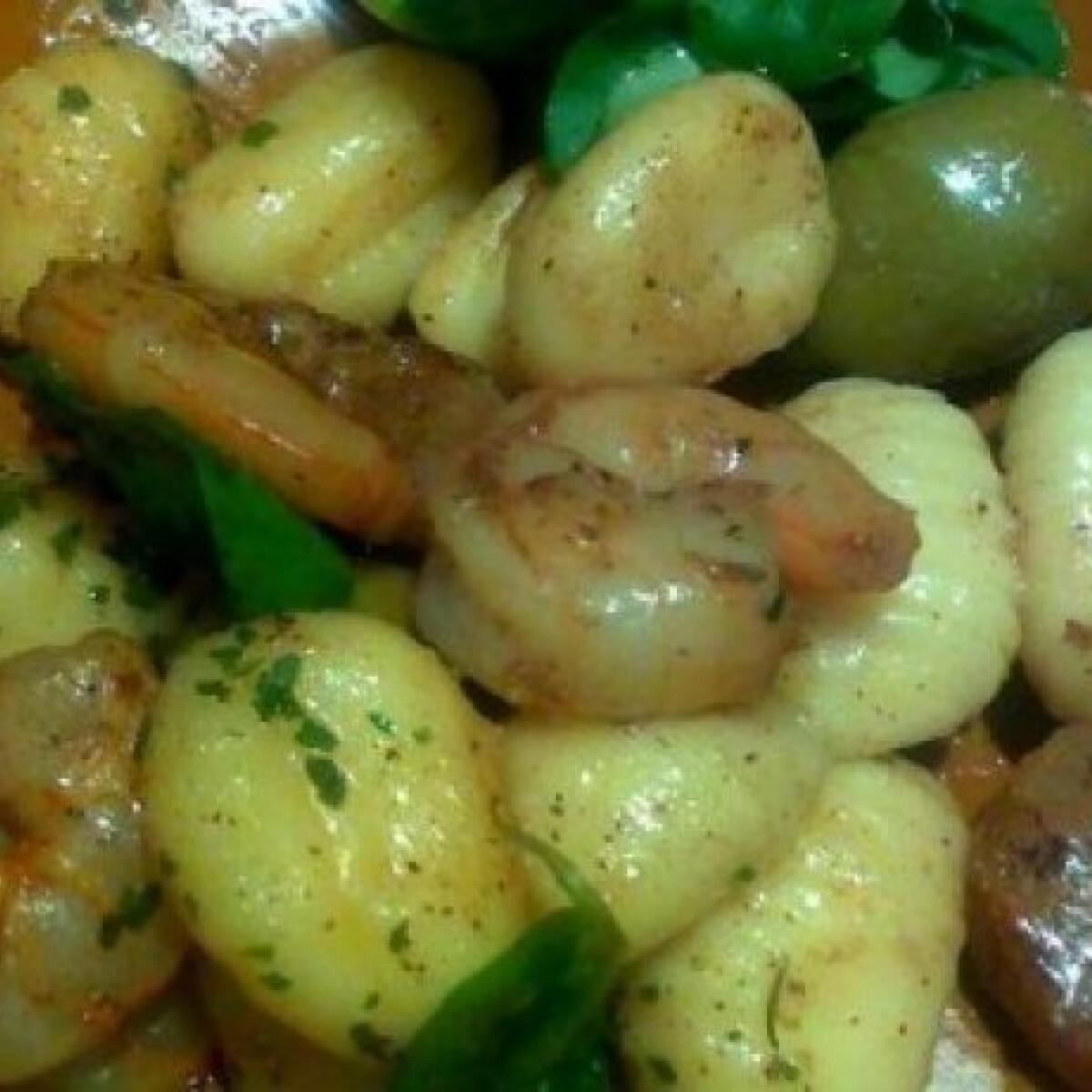 Ezen a képen: Gnocchi garnélarákkal