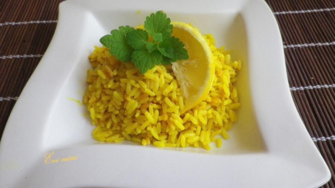 Citromos-kurkumás rizs