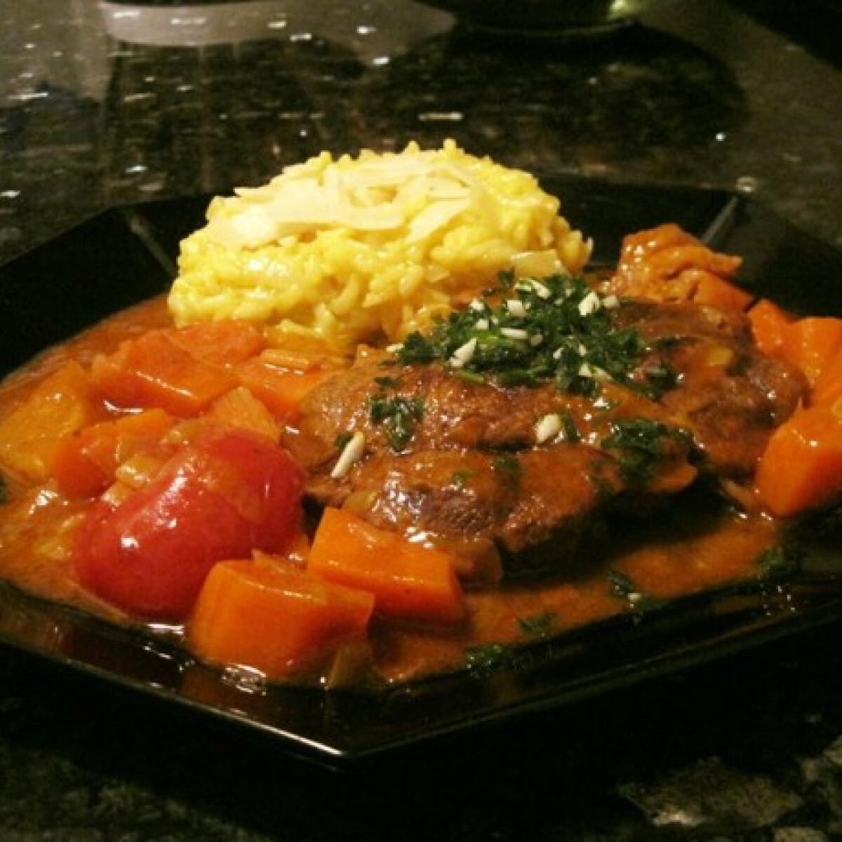 Ezen a képen: Ossobuco Éva házias konyhájából