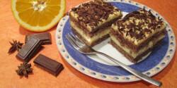 Narancsos-gyömbéres-csokis kocka