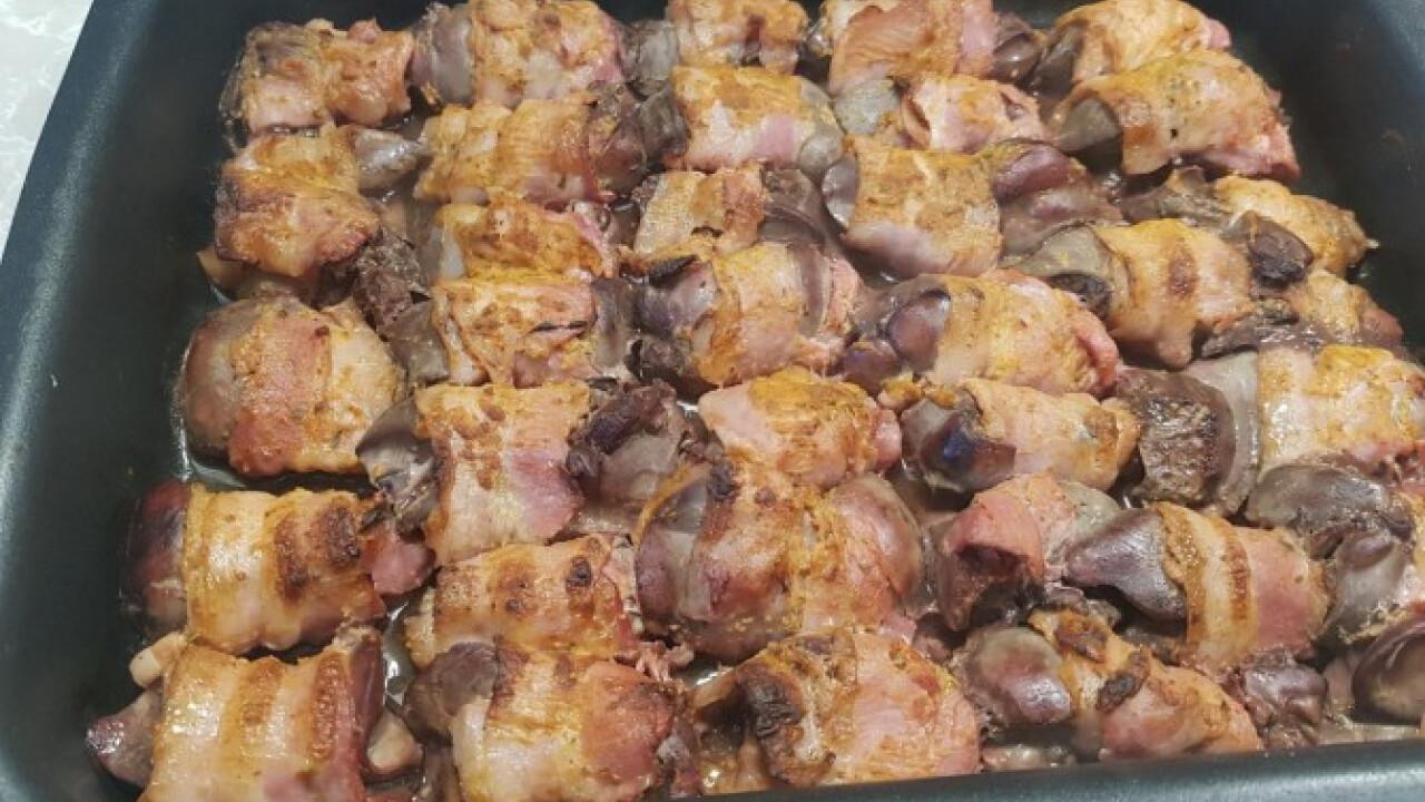 Baconbe göngyölt csirkemáj janettaylor konyhájából