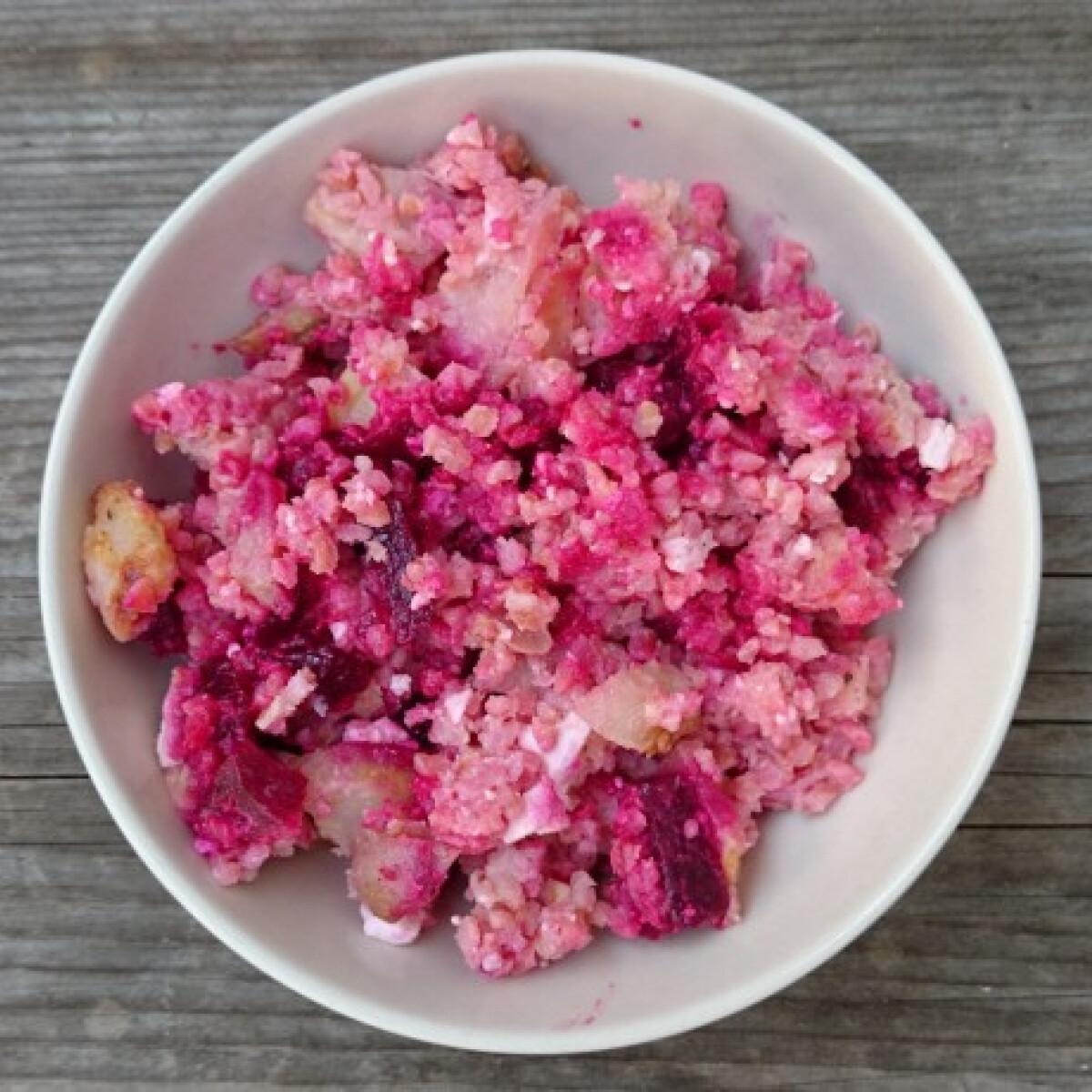 Ezen a képen: Sült cékla burgonyával és fetás bulgurral