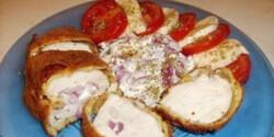 Rántott csirkemell cottage cheese-zel