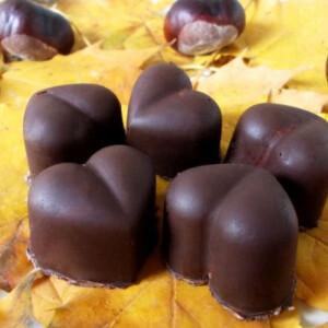 Szívecskés gesztenye bonbon