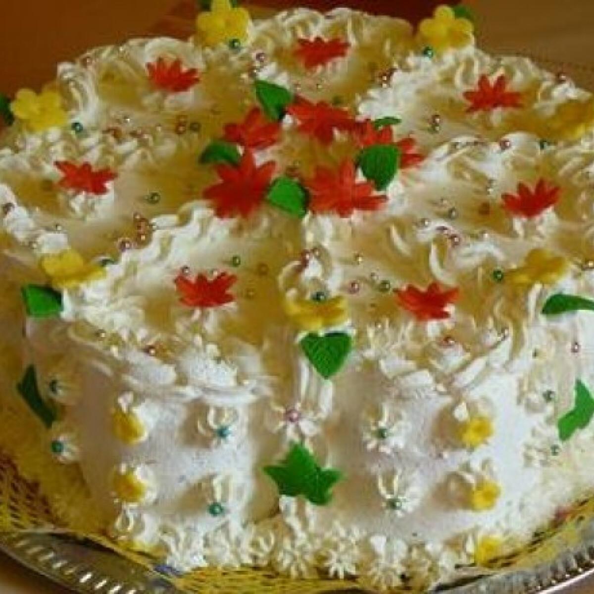 Ezen a képen: Túrókrémes torta