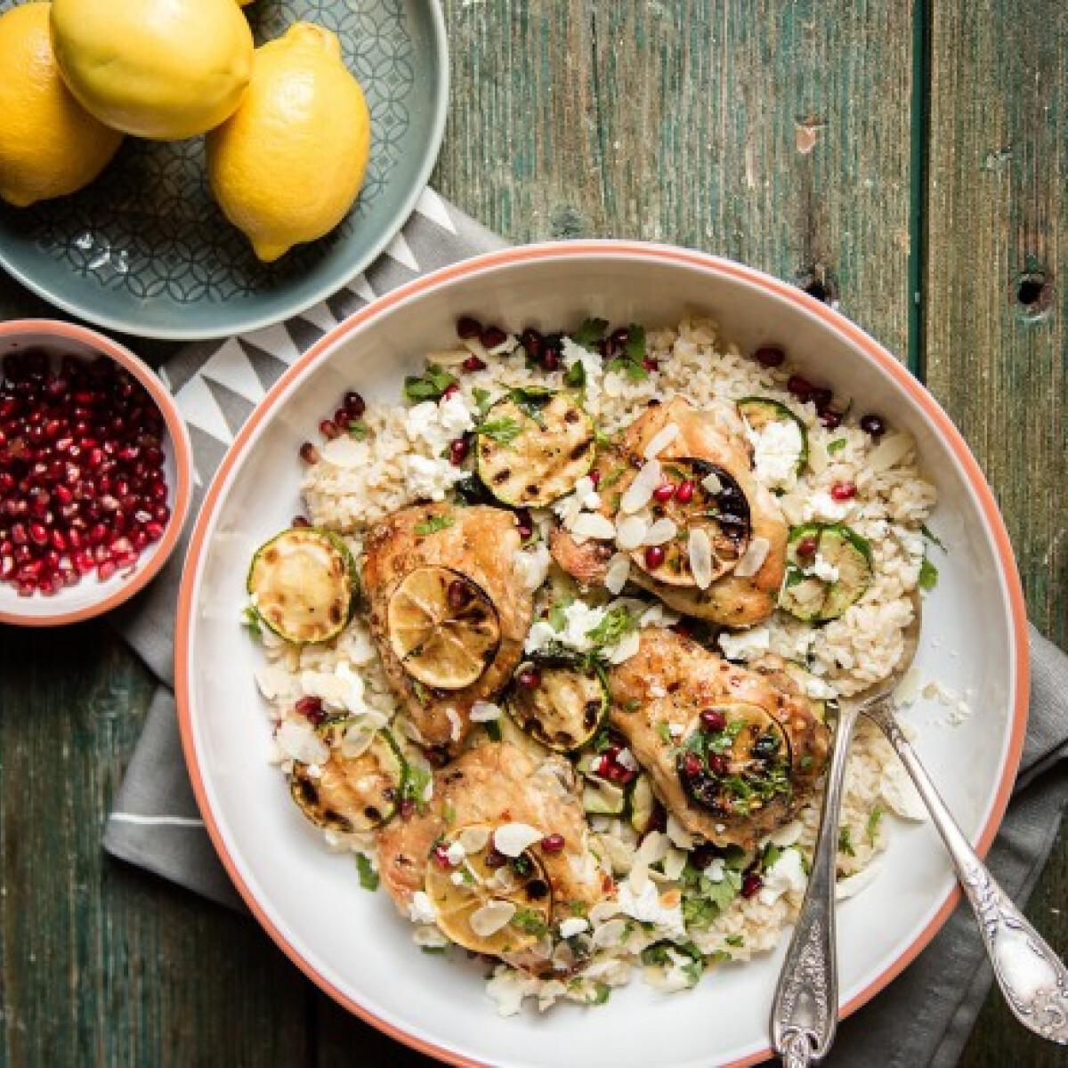 Citromos csirkecombok grillezettcukkini-salátával
