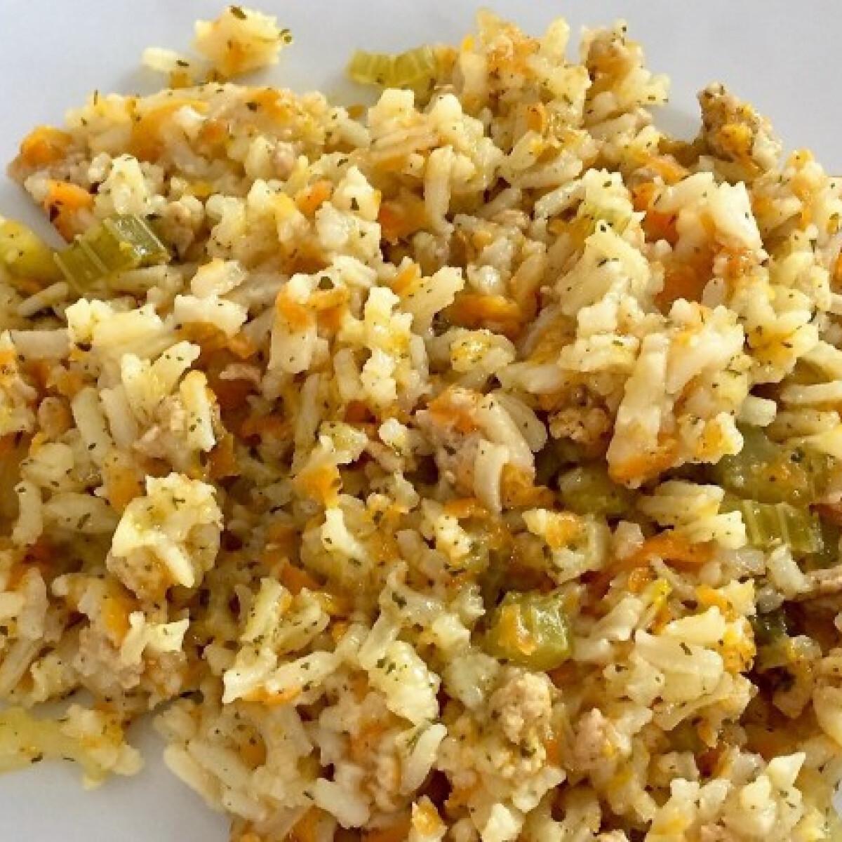 Rizses darált hús zöldségekkel