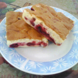 Joghurtos-meggyes pite