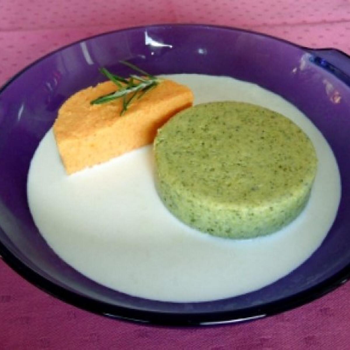 Ezen a képen: Brokkoli- és sárgarépapuding