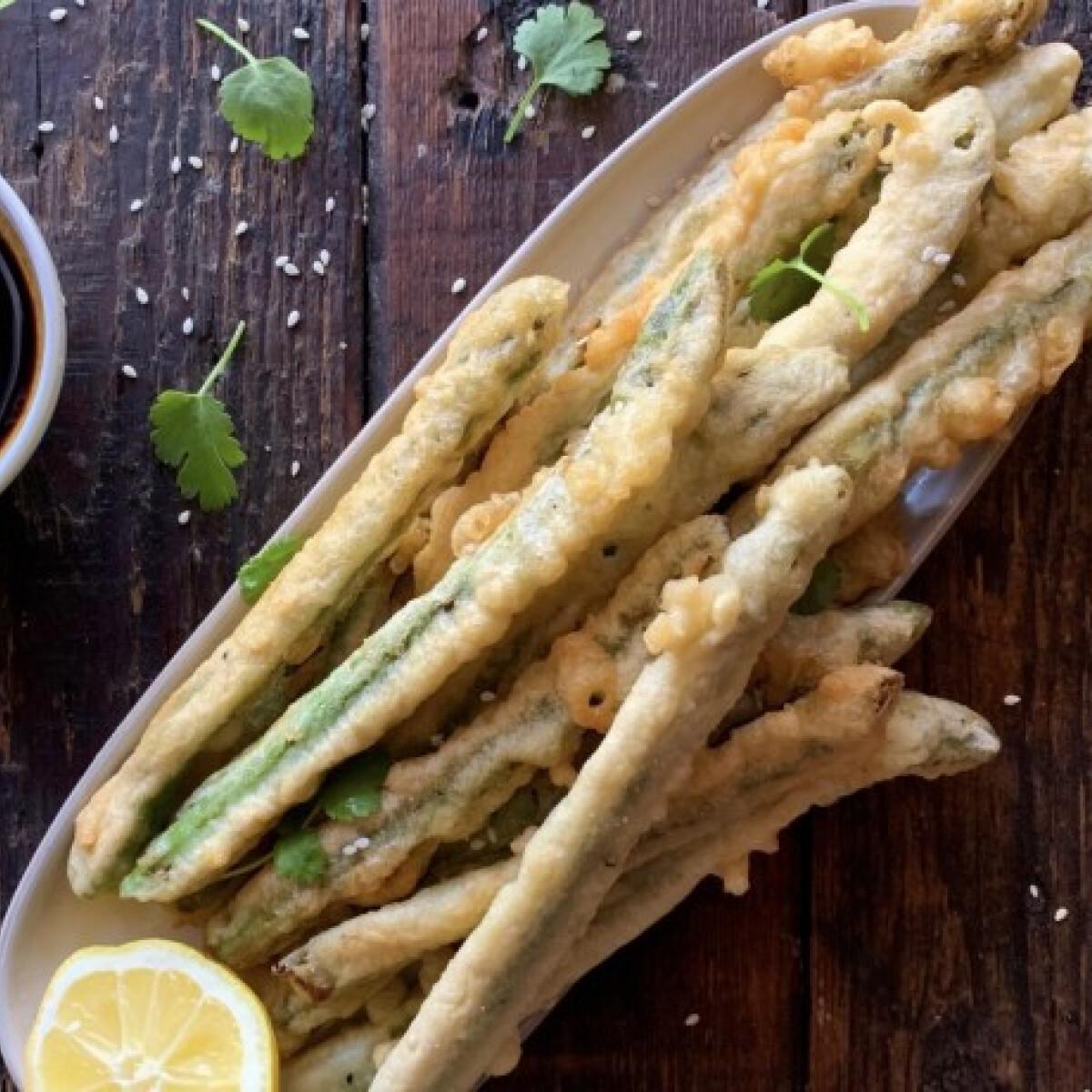 Ezen a képen: Gyors spárga tempura